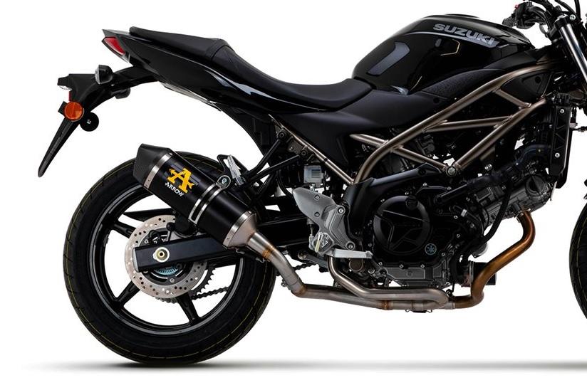 Arrow uitlaat SV650 zwart E4 goedgekeurd